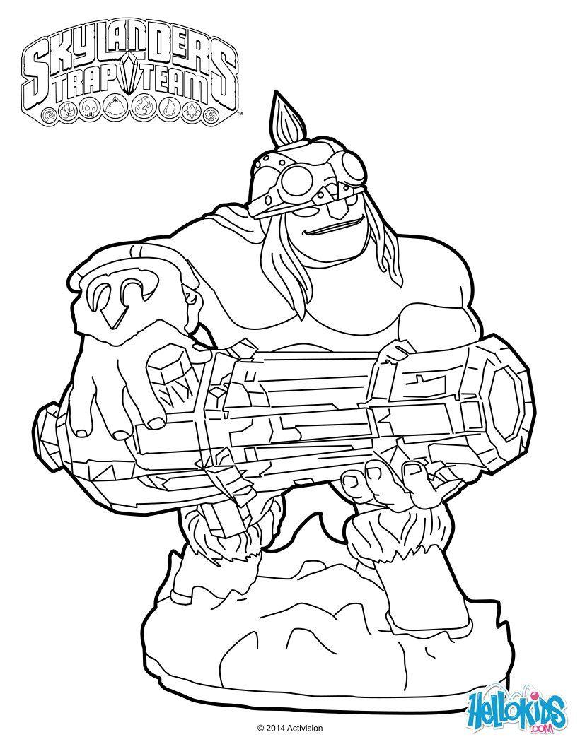 Skylanders Trap Team Coloring Pages Ka Boom Dragon Coloring Page Coloring Pages Turtle Coloring Pages