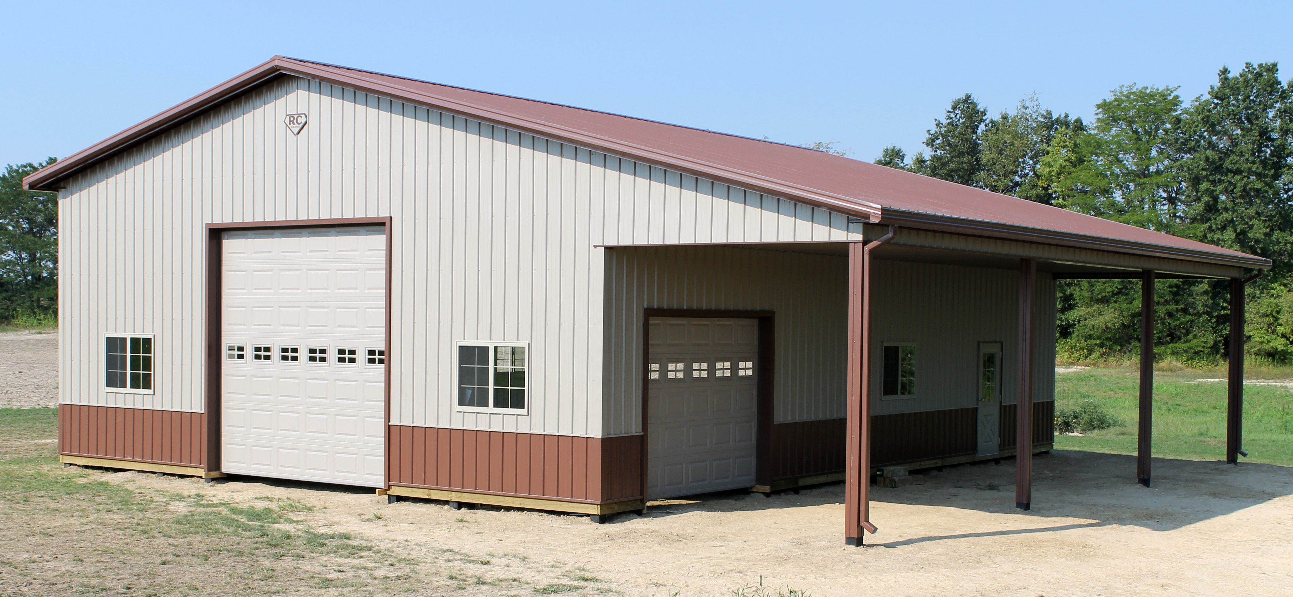 36x48x14 With 12x48 Lean To Metal Buildings Metal Barn House Plans Pole Barn Homes