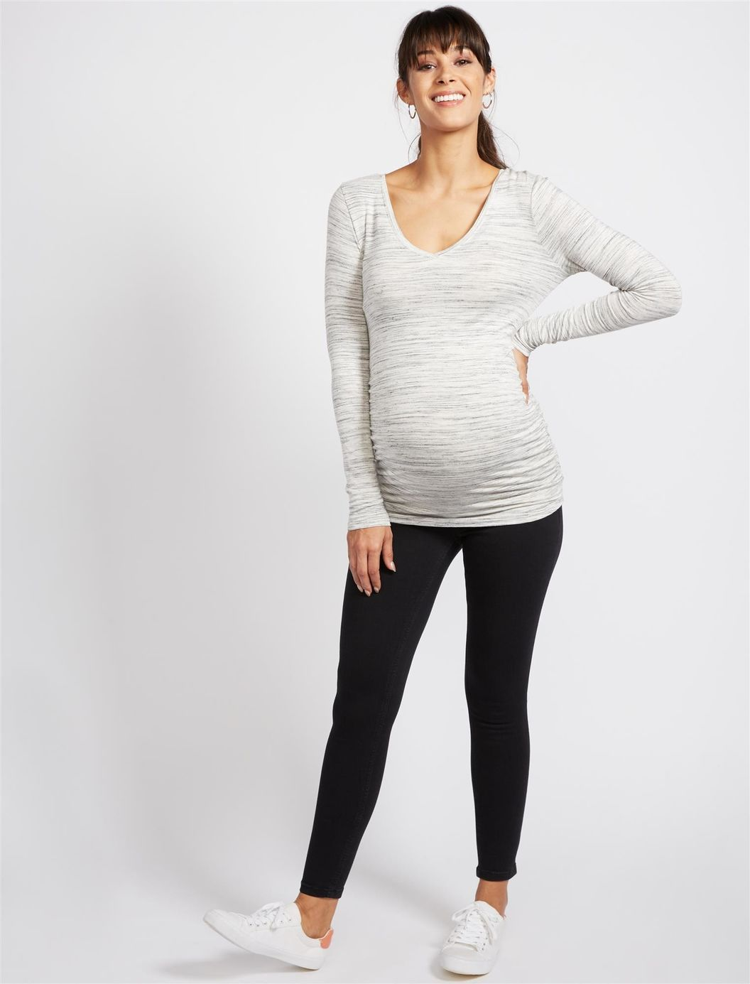 09453da4942d9 Secret Fit Belly Skinny Maternity Ankle Jeggings | Motherhood Maternity  Pregnancy Looks, Maternity Wear,