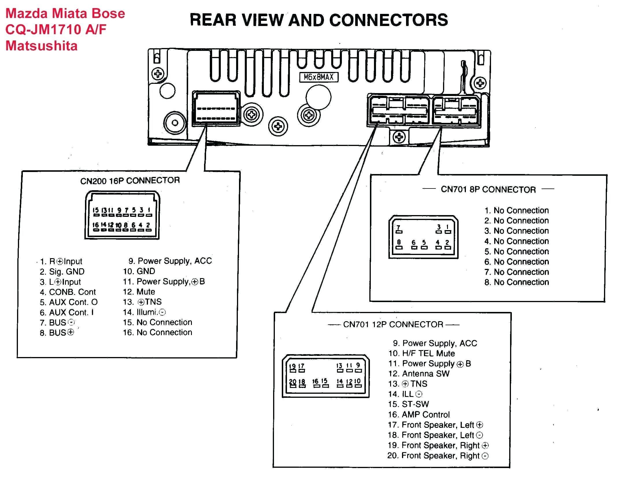 Unique Wiring Diagram sony Car Stereo Mazda, Bose