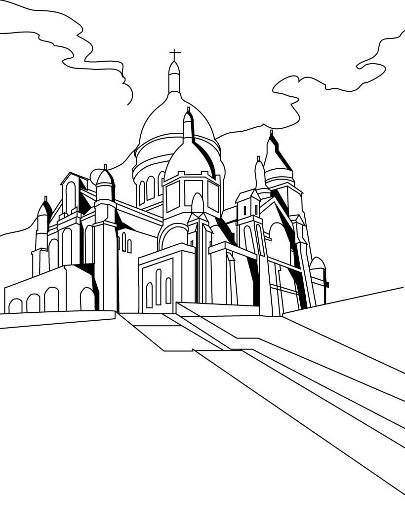 Found On Google Coloring Pages Paris Drawing French Images