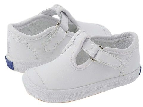1defa3ff3e88be Size 6 Keds Kids Champion Toe Cap T-Strap 2 (Infant Toddler) White Leather  - Zappos.com Free Shipping BOTH Ways