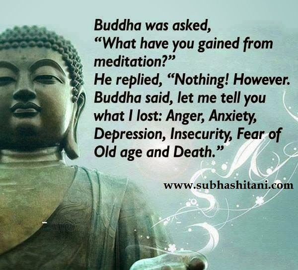 Gautam Buddha Quote About Meditation