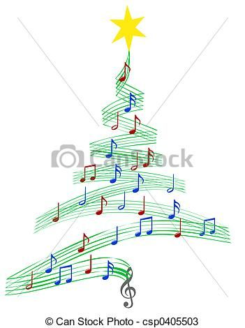 14+ Christmas tree music clipart ideas in 2021