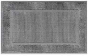 Jacquard 20-Inch x 33-Inch Ring-Spun Cotton Bath Rug in Grey #Rug#Bath#Cotton