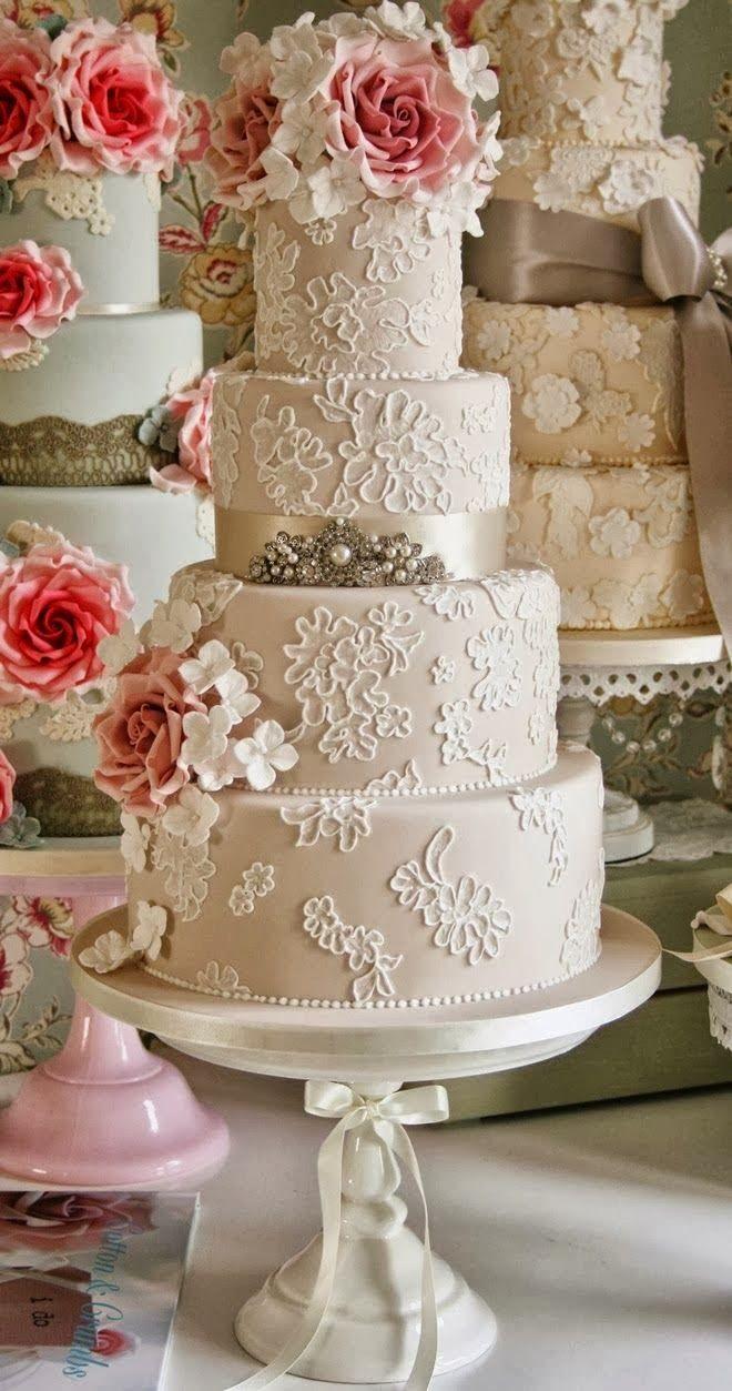 40 So Pretty Lace Wedding Cake Ideas Lace Weddings Wedding - Wedding Cakes Vintage