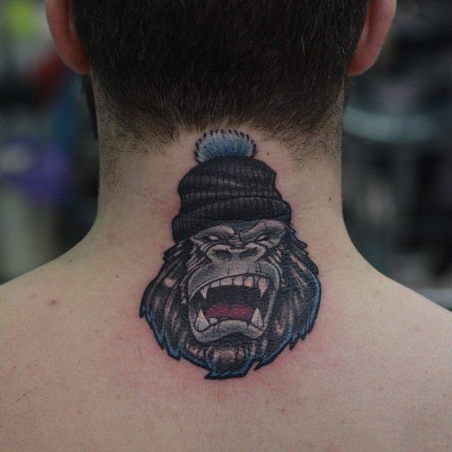 Angry Gorilla Tattoo