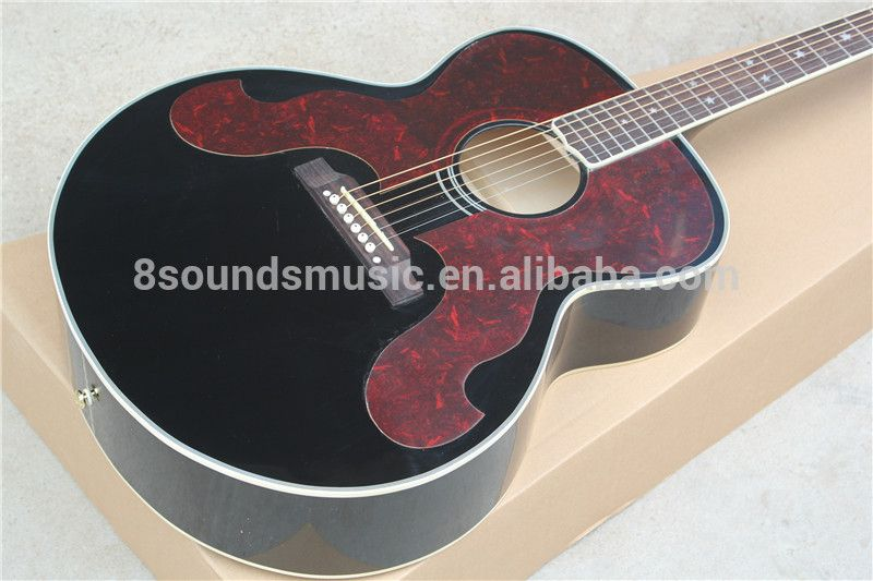 free shipping chibson j180 acoustic guitar big pickguard j180 electric acoustic guitar acoustic. Black Bedroom Furniture Sets. Home Design Ideas