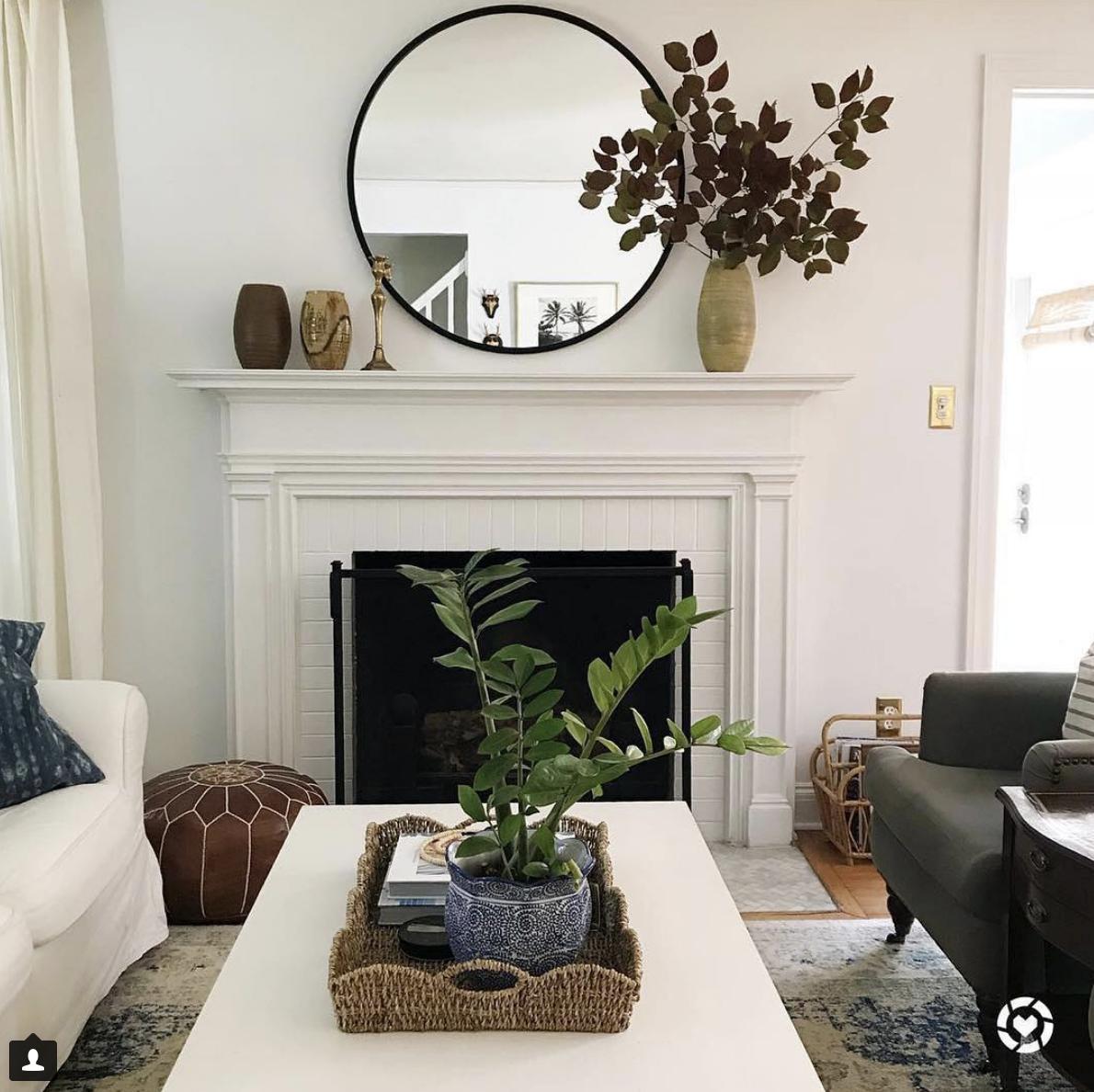 Black Circle Mirror Mantle Decor Fireplace Mantle Decor Living Room Green Fireplace Mantel Decor