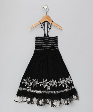 Take a look at this White Palm Convertible Dress - Toddler & Girls by India Boutique on #zulily today!