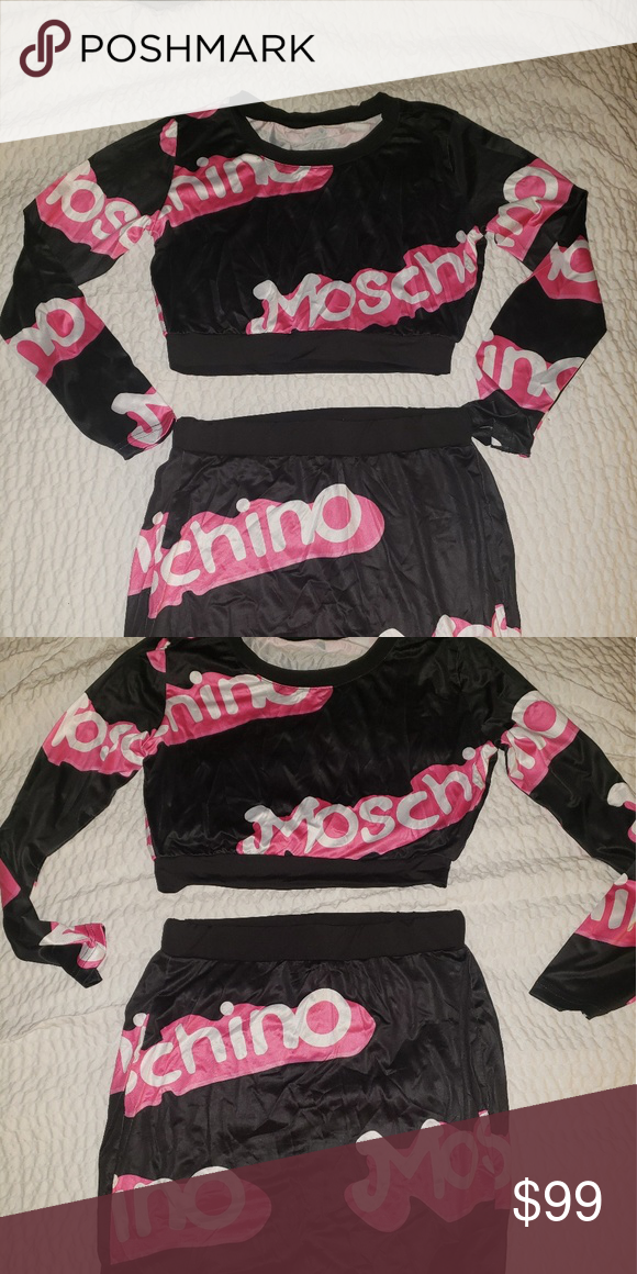 b77b27030 MOSCHINO BARBIE 2 PIECE SET Jeremy Scott Barbie design! Hard to find! This  was a gift from someone so I cannot guarantee authenticity. No interior  tags.