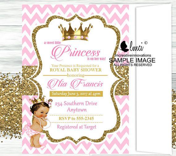 Royal Princess Baby Shower Invitation Little Princess Invitation