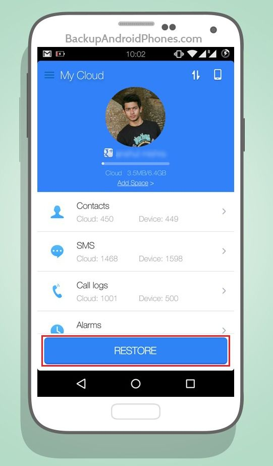 Cm Backup Contacts Restore Android Backup Android Phone Backup