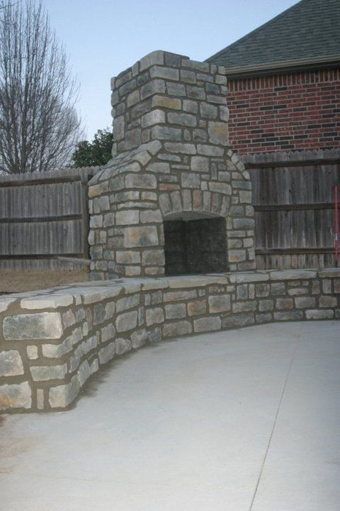 Puratron Fireplace Insert Part - 50: Outdoor Fireplace Tulsa Part - 40: Kodiak Custom Masonry, Tulsa Brick Works    Outdoor