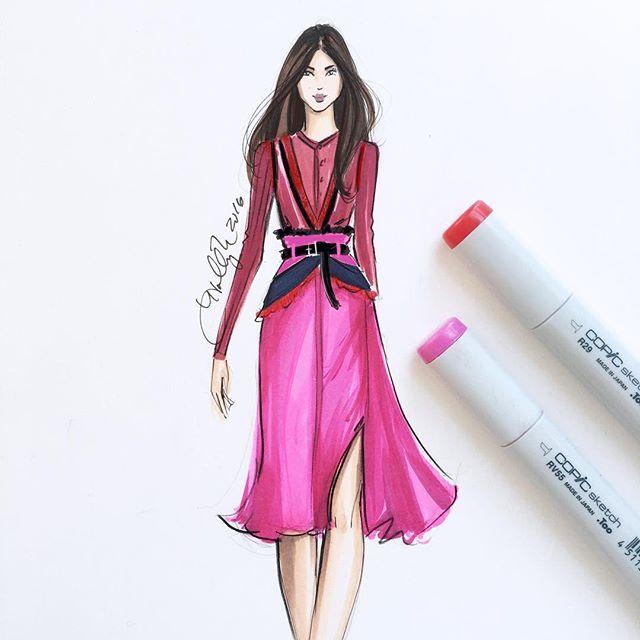 Color crush  @altuzarrastudio sketched with @copicmarker #fashionsketch #fashionillustration #fashionillustrator #boston #bostonblogger #bostonillustrator #copic #copicmarkers #copicart #hnicholsillustration #nyfw #nyfw16 #newyorkfashionweek #altuzarra
