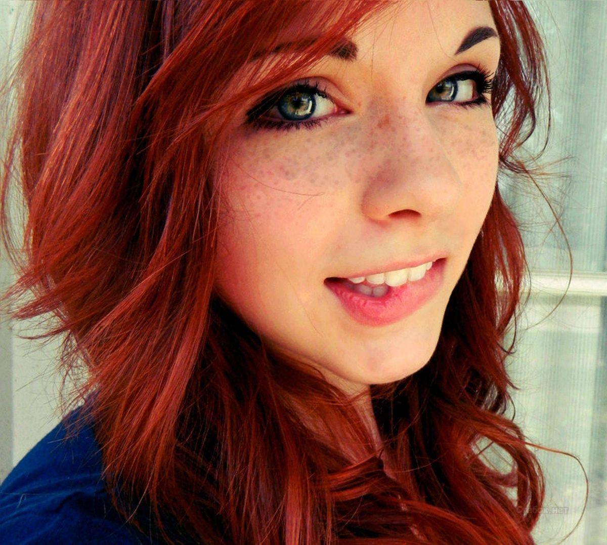 Милые девушки с рыжими волосами (82 фото) | Прически с ...