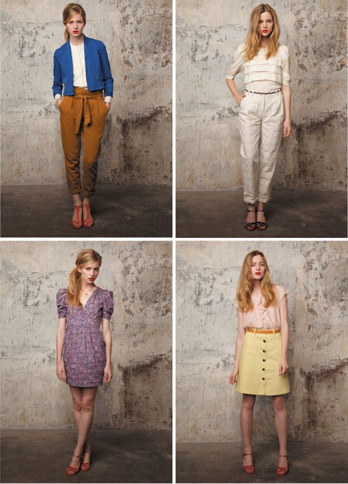 Feminine looks for spring by French label, Sessun | Top left is my favorite