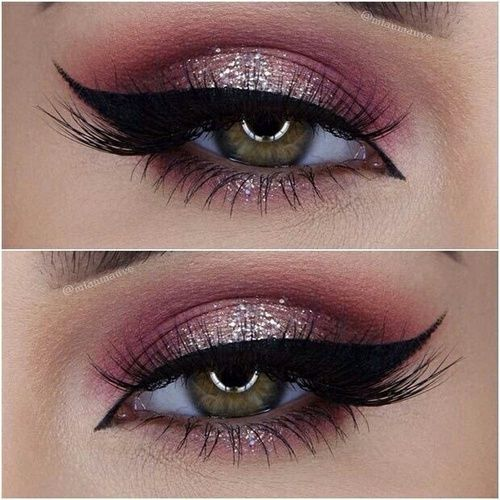 Imagem De Makeup Eyes And Pink Holiday Makeup Looks Eye Makeup Holiday Makeup
