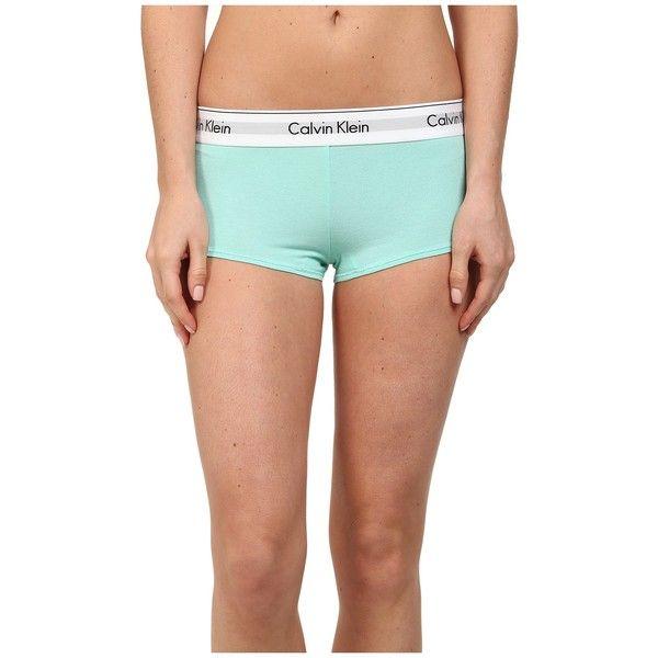 Calvin Klein Underwear Modern Cotton Boyshort Women's Underwear ($22) ❤ liked on Polyvore
