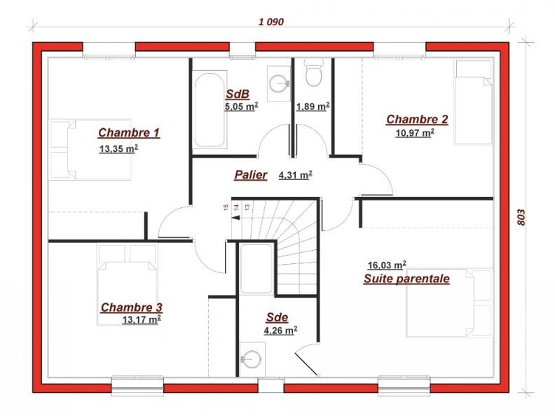 Plan étage Vendome 140 - Sa façade vous accueille avec une large