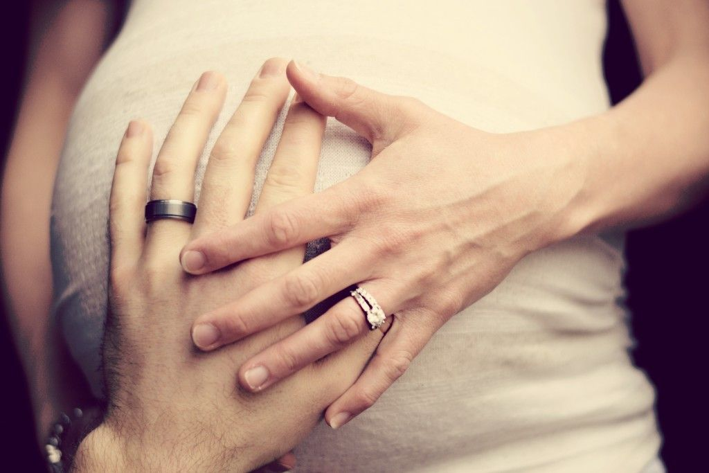 Maternity Wedding RIngs Baby Bump Maternity Photography