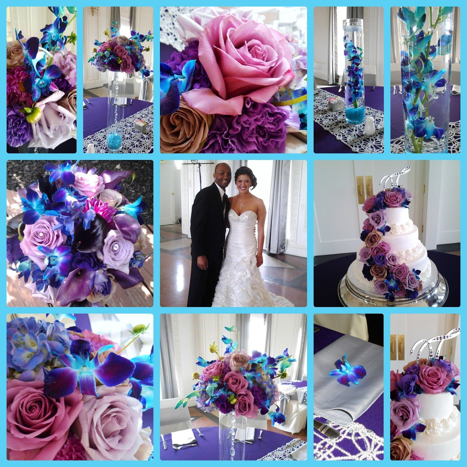 Purple Blue Wedding Colors And Flowers With Erflies Divine Designs By