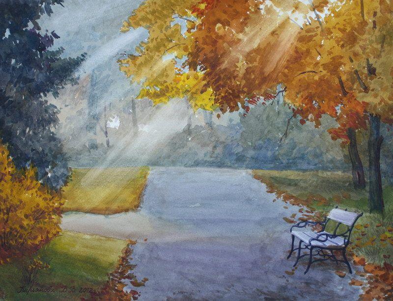 Вена. Осень в парке, 2012 (с изображениями) | Картины