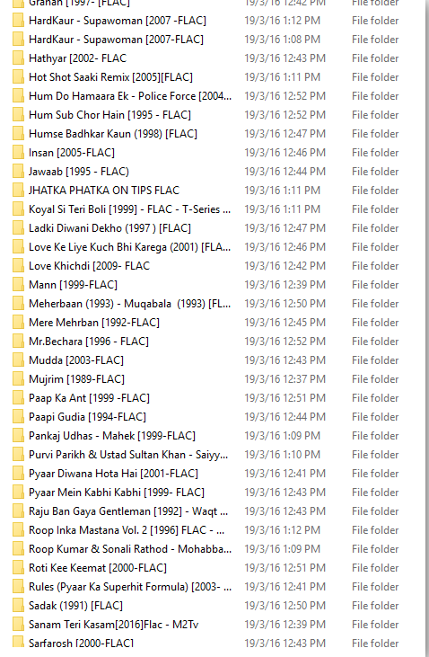 bollywood biggest flac collection