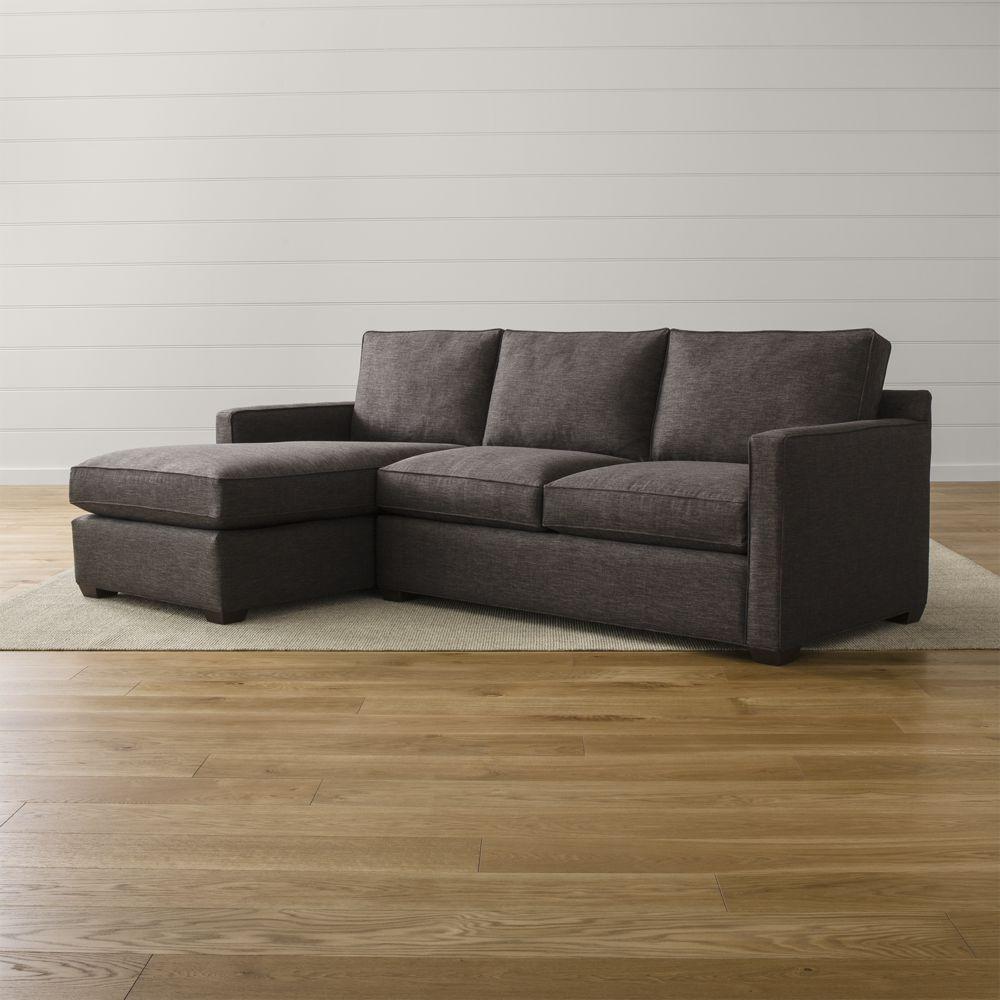 Davis 2 piece sectional sofa crate and barrel