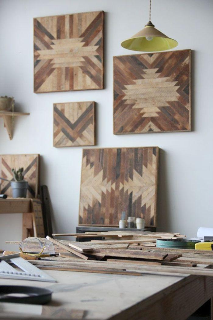 40 verblüffende Ideen für Wanddeko aus Holz | Mosaic furniture ...