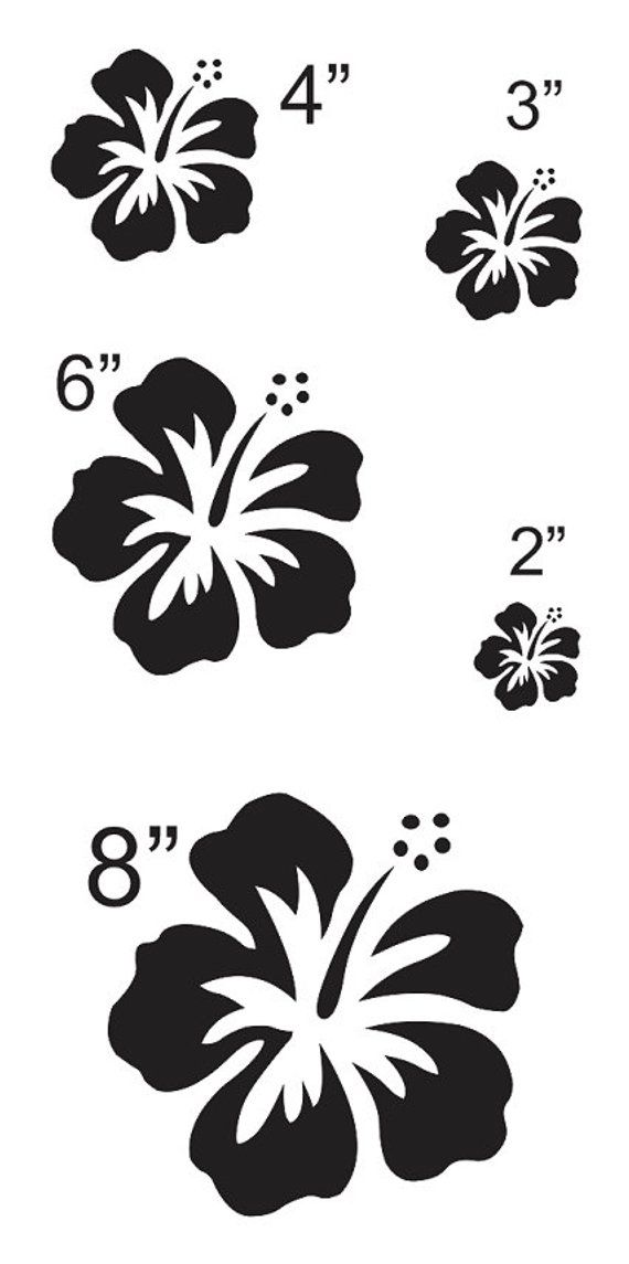 Hibiscus Flower 3 Stencil Sheet With 5 Total Sizes 2 Etsy Flower Stencil Hibiscus Flowers Hibiscus