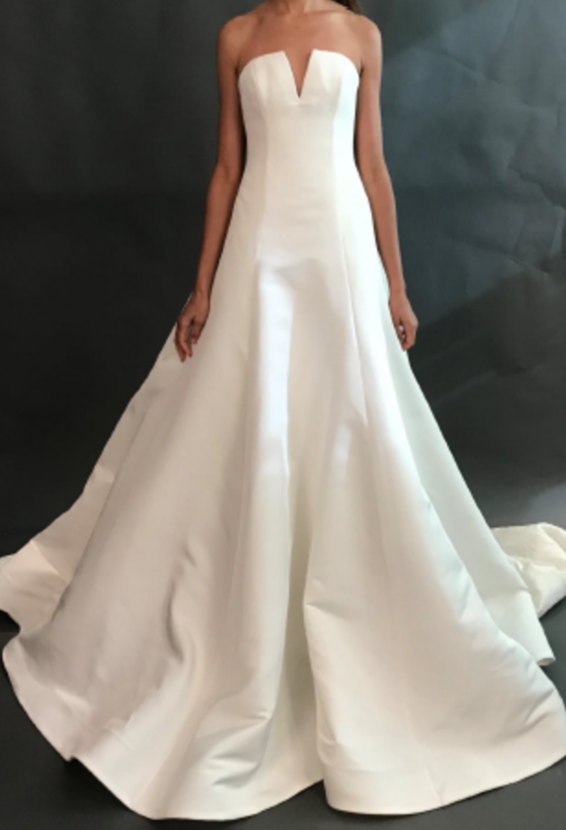 Wedding gown with red accents  Natalia by Vera Wang Fall   Wedding Dresses in   Pinterest