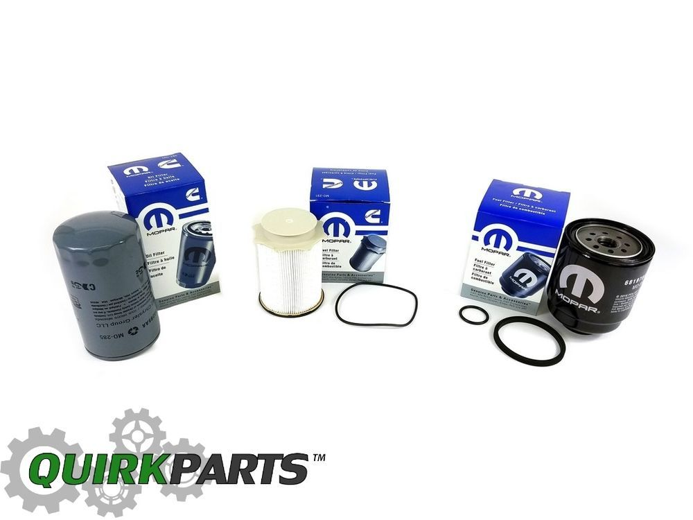 2013 2017 Ram 2500 3500 4500 5500 6 7l Diesel Oil Fuel Filter Kit Mopar Genuine Ebay Diesel Oil Mopar Ram 2500