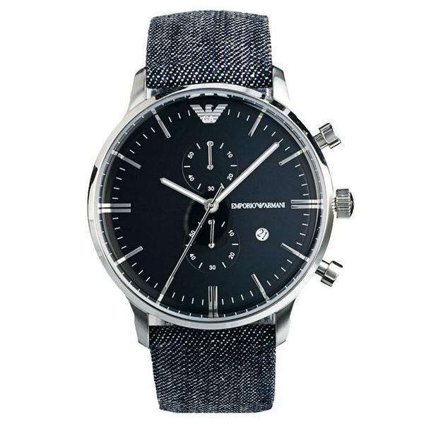 emporio armani unisex renato stainless steel bracelet watch emporio armani retro denim black face men s watch 43mm ar1690 the watches men