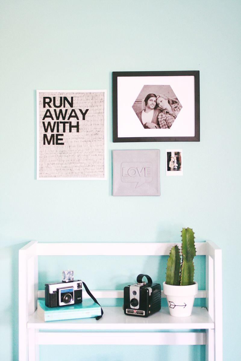 Easy Minute Art Projects abeautifulmess Decor Pinterest
