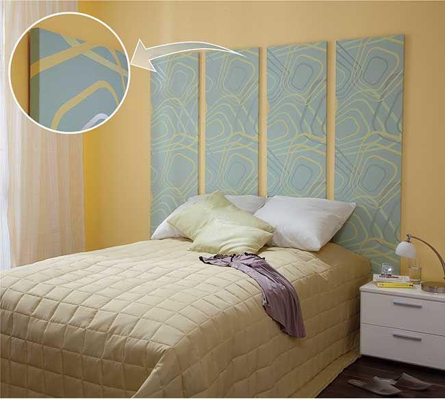 Testiera letto fai da te | Arredo camera da letto | Pinterest