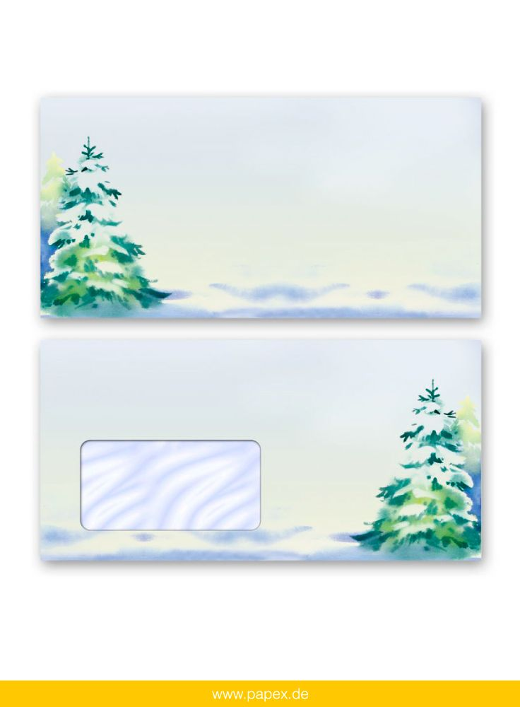 Stationery Letters And Envelopes By PaperMedia Winter Paper