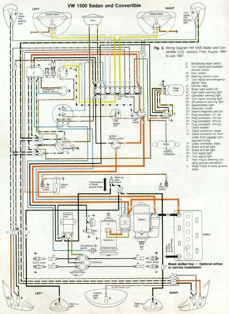 17 Air Cooled Vw Engine Wiring Diagram Engine Diagram Wiringg Net Vw Super Beetle Vw Beetles Vw Engine
