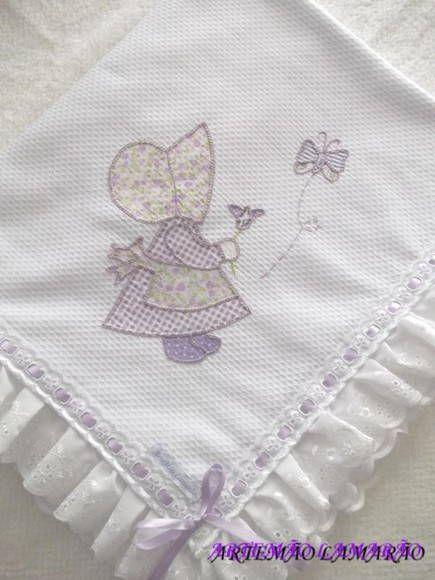 Resultado de imagen de mantas de bebe bordadas | Costurar