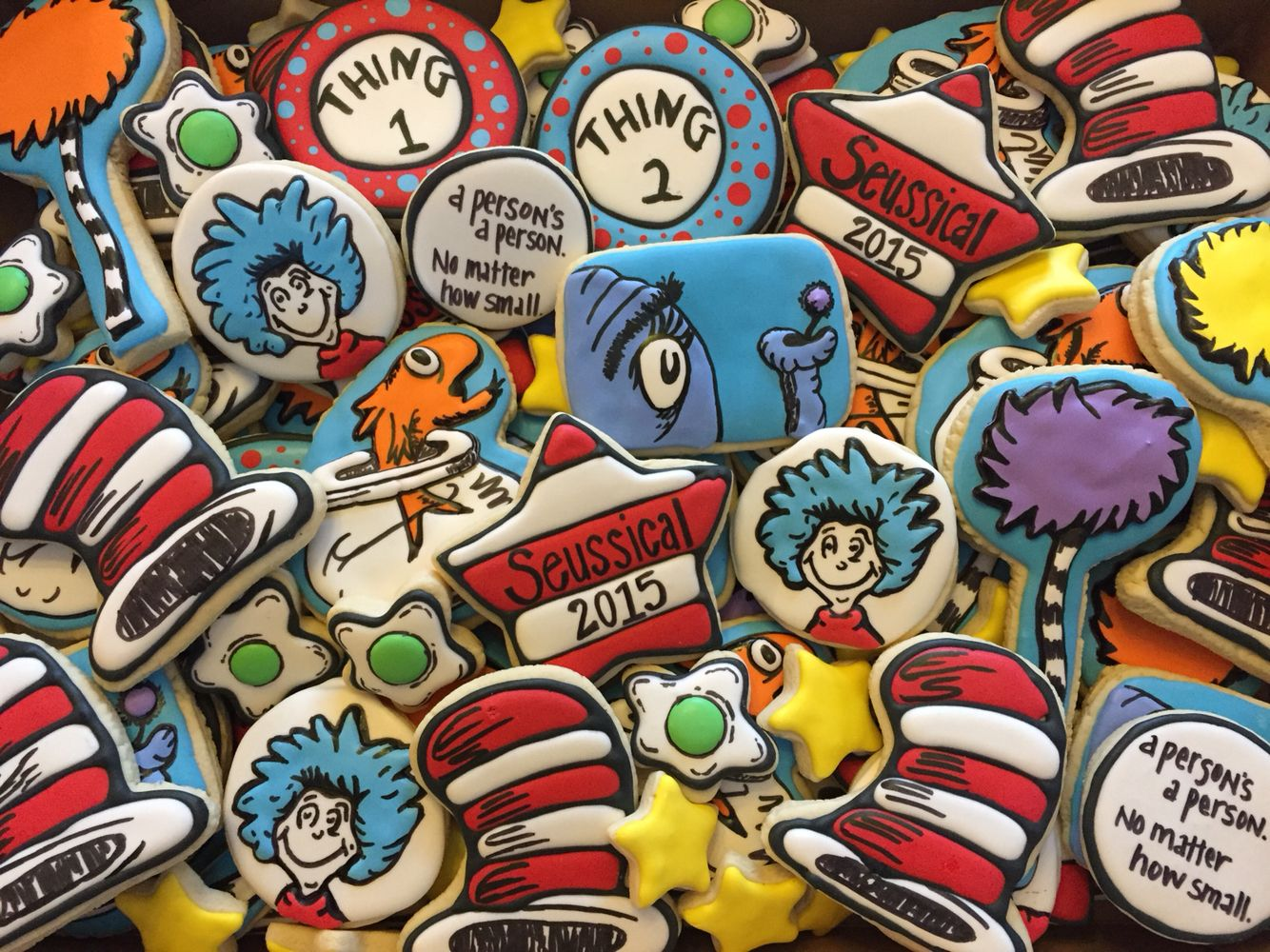 Dr. Seuss cookies by Mama Jenns Cakes.