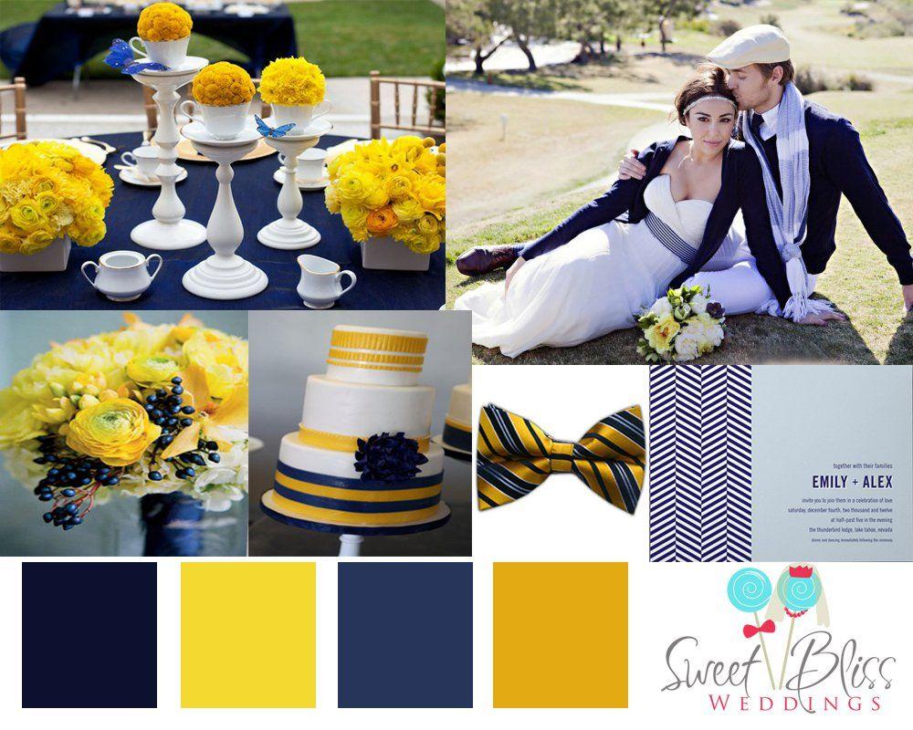 Navy Days Inspiration Board Yellow Wedding Theme Navy Yellow Weddings Mustard Yellow Wedding