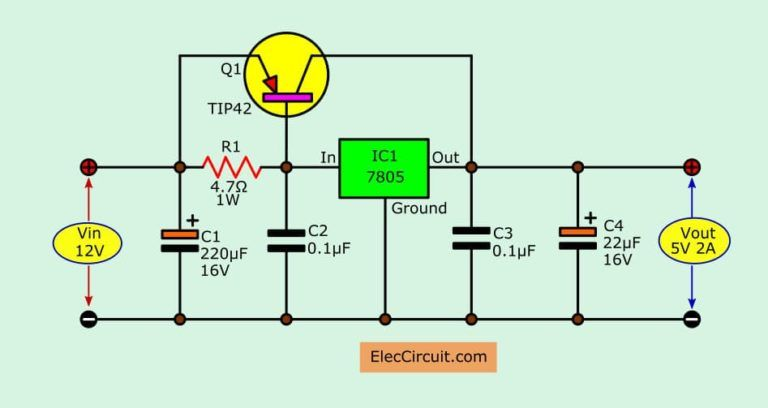 12v To 5v Converter Step Down Dc Regulator In Many Ways To Do Electronic Circuit Projects Electronics Basics Power Supply Design