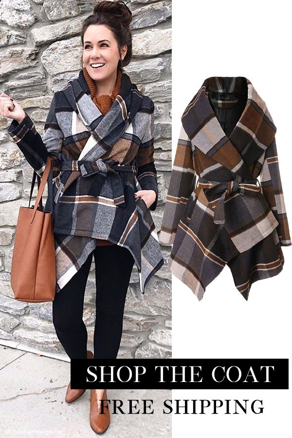 Stylish Wrapped Coat Free Shipping & Easy Return. Up to 30% Off. Prairie Check Rabato Coat. @sparkleslaceandsequins.
