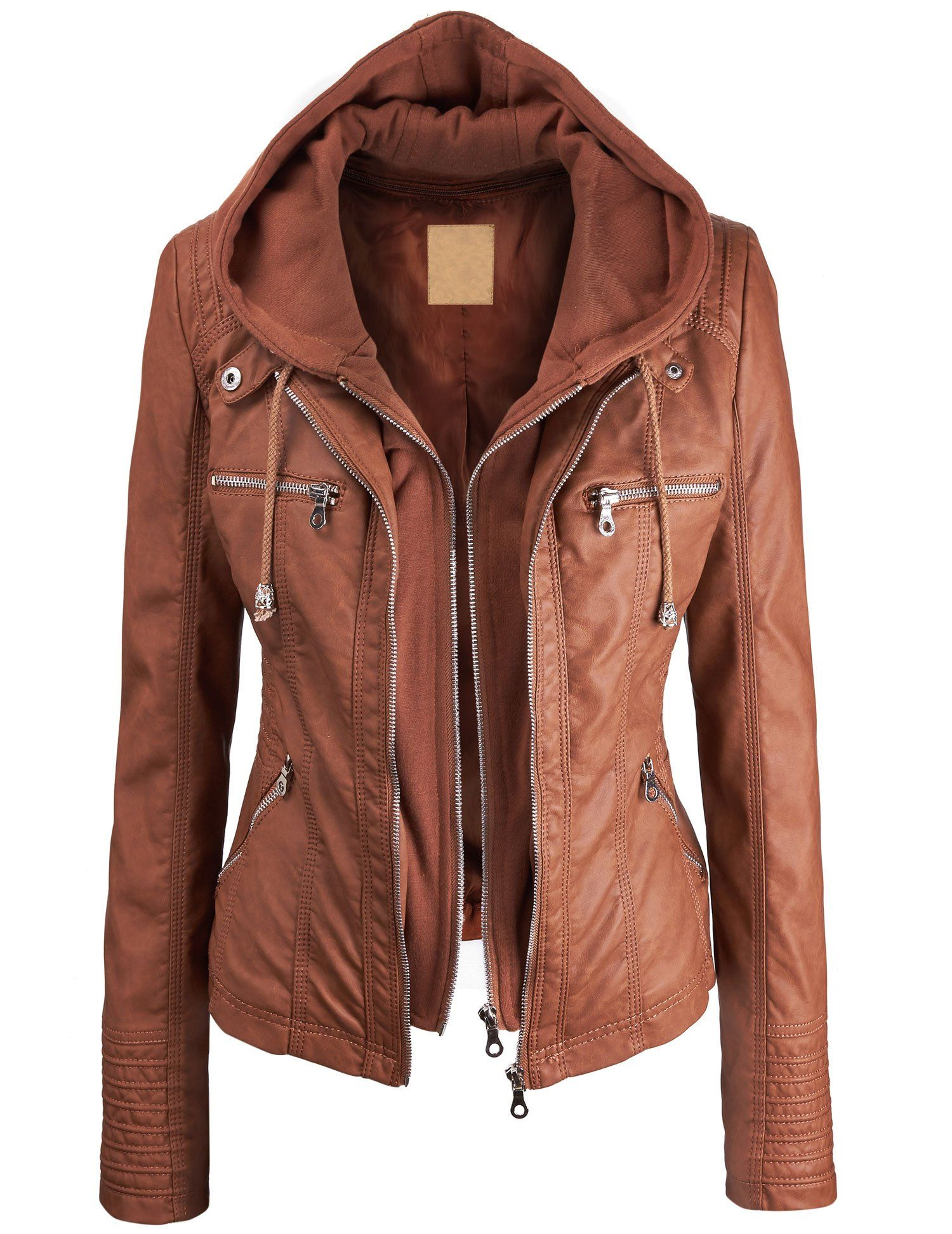 ea524f20d Lock and Love Women's Faux leather Jacket at Amazon Women's Coats ...