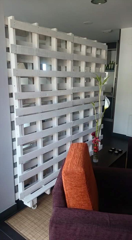 white pallet sliding gate / room divider - 125 awesome diy pallet