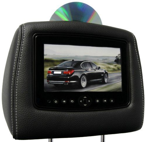 CarShow By Rosen CSFDFBS Single DVD Headrest System Car - Car show headrest monitors