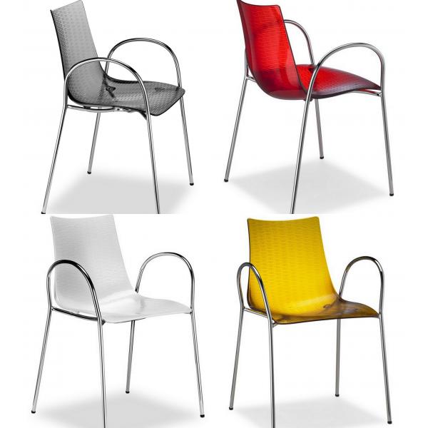 Sedie on line antigraffio in policarbonato sedie eleganti for Sedie moderne design