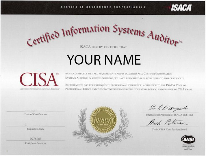 CISA certification template Cisa Pinterest - information systems auditor sample resume