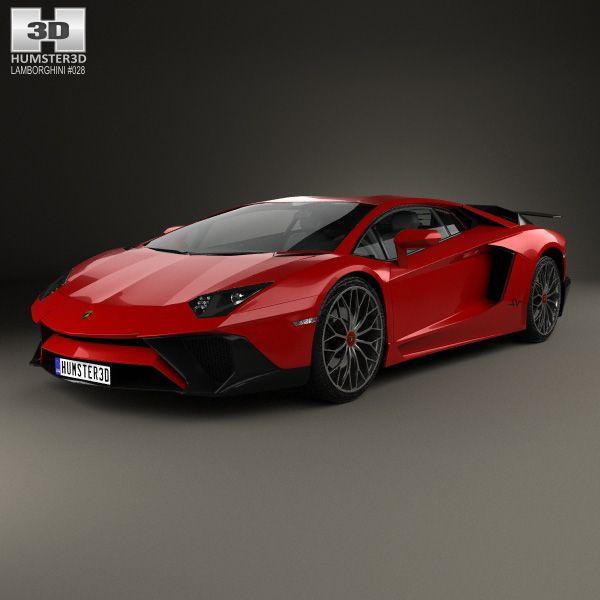 3d Model Of Lamborghini Aventador Lp 750 4 Superveloce 2015