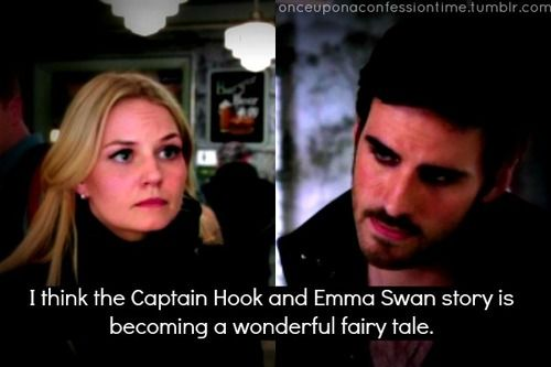 I think the Captain Hook and Emma Swan story is becoming a wonderful fairytale :)
